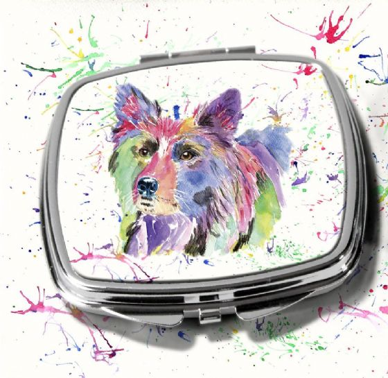 Compact Mirror (Collie)